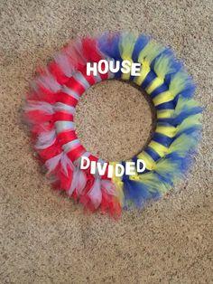 House Divided Ohio State/ TTUN Tulle Wreath #football #gobucks #ttun