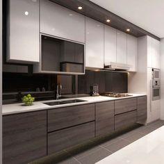 singapore interior design kitchen modern classic kitchen partial open - Google Search #kitchenideasmodern
