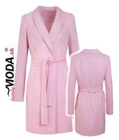 Ružový jarný dámsky kabát – trendymoda.sk Jar, Fashion, Dress, Moda, Fashion Styles, Fashion Illustrations, Jars, Glass