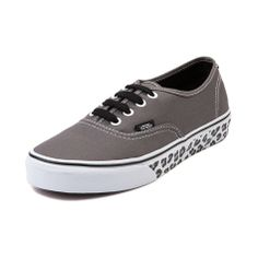 Vans Authentic Leopard Sidewall Skate Shoe, Gray Leopard | Journeys Shoes