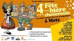 4ème édition de la Fête de la bière et de la choucroute à Metz. Du 25 octobre au 3 novembre 2013 à Metz.