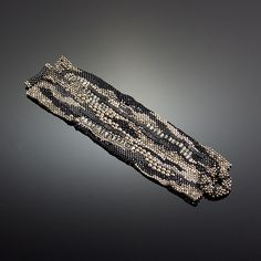 Sculptural Cuff #2 by Julie Powell: One of a Kind Beaded Bracelet available at www.artfulhome.com