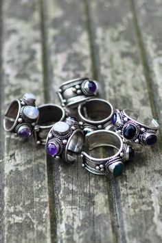 Stackable Trio Stone boho Ring / natural by SimonaMarJewellery, £11.50