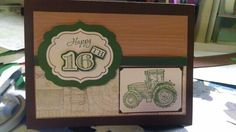 Tractor birthday card for my nephew