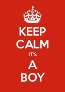 Keep Calm; It's A Boy - Wind in a Letterbox