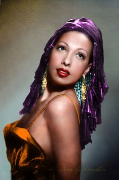 Josephine Baker (Born: Freda Josephine McDonald - June 3, 1906 - St. Louis, MO, USA; Died: April 12, 1975 - Paris, Île-de-France, France)