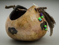 Cathy Cox, Texas Gourd Society 2016 Intermediate Div, 1st Place Southwest-NativeAmerican
