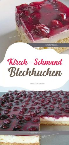Cherry Schmand sheet cake kirsch-schmand-blechkuchen cake The post che Berry Smoothie Recipe, Easy Smoothie Recipes, Easy Smoothies, Snack Recipes, Dessert Recipes, Coconut Milk Smoothie, Homemade Frappuccino, Sour Cream Cake, Grilled Fruit