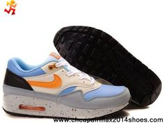 brand new c925f e3122 2013 New 307133-481 Nike Air Max 1 Old Royal Tango Black Anthracite Mens  Latest