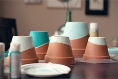 DIY color-dipped pots with this tutorial.