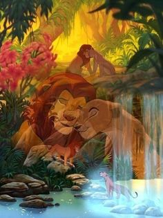Simba e Nala Disney Pixar, Simba Disney, Walt Disney, Disney Lion King, Disney Couples, Disney And Dreamworks, Disney Animation, Disney Magic, Disney Art
