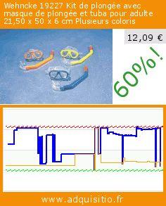 Wehncke 19227 Kit de plongée avec masque de plongée et tuba pour adulte 21,50 x 50 x 6cm Plusieurs coloris (Sport). Réduction de 60%! Prix actuel 12,09 €, l'ancien prix était de 30,60 €. https://www.adquisitio.fr/wehncke/19227-kit-plong%C3%A9e-avec