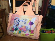 Sac Foxtrot cousu par Sandrine dans un coupon Laure Phelipon - Patron couture Sacôtin