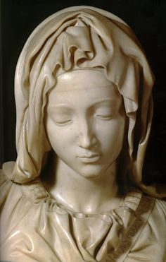 Detail of Pieta; Beautiful Mary in the Vatican