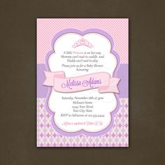 Little Princess Baby Shower Invitation by PinkSkyPrintables, $12.00