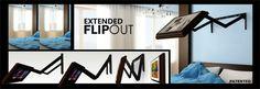 Flip out Hidden TV lift for Bed