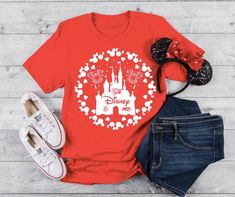 Disney World Shirts, Disney Shirts For Family, Disney Family, Family Shirts, Matching Disney Shirts, Colorful Shirts, Etsy Shop, How To Wear, T Shirt
