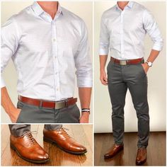 5 Smart Pants & Shirt Outfit Ideas For Men #formal #outfits #mensfashion
