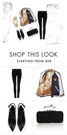 """""""black look"""" by iamaliay on Polyvore featuring Maison Scotch, Beautiful People, Valentino and DKNY"""