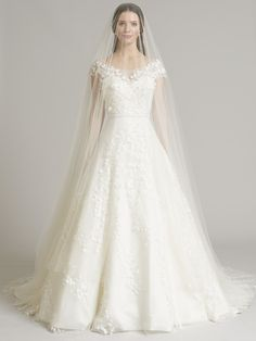 Phillipa Lepley 2015 Collection - Lily of the Valley & long plain silk Tulle veil. www.phillipalepley.com