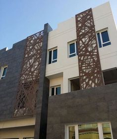 Modern Exterior House Designs, Modern Apartment Design, Modern Architecture House, Facade Architecture, Modern House Design, Steel Gate Design, House Gate Design, Facade Design, Balustrade Balcon