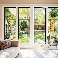 Image result for sunroom with big sliding windows townhouse