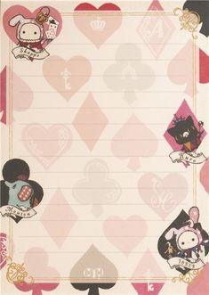 white Sentimental Circus rabbit clubs hearts spades Memo Pad 6
