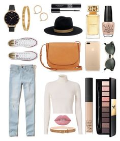 """Match to 'Casual'"" by keira-mcdonald on Polyvore featuring Hollister Co., A.L.C., Converse, Mansur Gavriel, Janessa Leone, Ray-Ban, Olivia Burton, Cartier, Nordstrom and rag & bone"