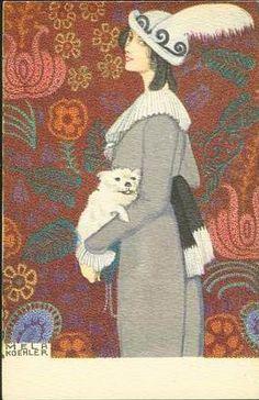 Mela Koehler, card, 1910s  (Austrian, 1885-1960)