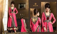 Zoya Solitaire Summer Anarkali Suits Designs 2014-2015 Shalwar Kameez Dresses Collection
