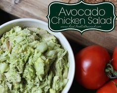 Quick and easy avocado chicken salad! Great lunch idea!