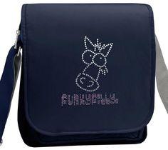 Diamante Sparkly Horse Girls Cross Body Shoulder Bag Navy Blue