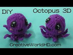 How to Make Octopus 3D - 3D Printing Pen Creations/Scribbler DIY Tutorial - YouTube