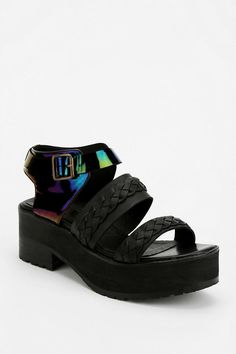 To Be Announced Margie Oil Slick Platform Sandal #urbanoutfitters