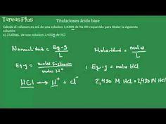Concentraciones en titulaciones ácido base