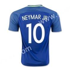 2016-17 Brazil NEYMAR JR  Away Blue Thailand Soccer Jersey