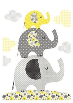 Elephants. Bubble Gum Years - ETSY