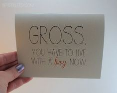 Funny Engagement Card / Humor Wedding Card by BEpaperie #wedding #engagement #cards