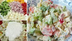 Lehký těstovinový salát se zálivkou z bílého jogurtu a koření. Koření použijte takové, které vám nejvíce chutná. Autor: Triniti Tzatziki, Czech Recipes, Ethnic Recipes, Pasta Salad, Feta, Potato Salad, Salads, Food And Drink, Soup