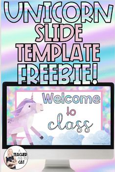 Get your FREE unicorn slide templates here! Perfect for displaying during a virtual morning meeting :)