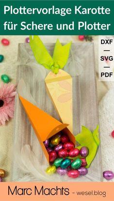 Geschenk zu Ostern basteln, Geschenk als Geschenk zu Ostern für Schere und Plotter - PDF, SVG und DXF. Plotterdatei - Plottervorlage Ostern. Freebies, Blog, Jewelry Making, Diy Gifts Man, Blogging