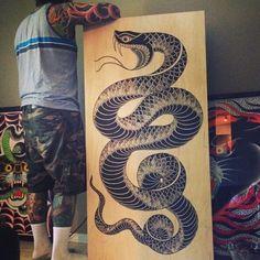 Resultado de imagem para snake japanese tattoos