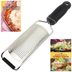 ProChef Fine Cheese Grater, Ginger Grater & Lemon Zester, Micro Blade Cover…