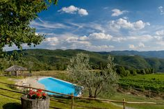 Il Colle, Handpicked in Tuscany Podere Il Colle is a recently restored farmhouse that still retains its original character. Built of mellow stone, it features terracotta floors, beamed ceilings, archways and stone walls. Sitting on a sunny hillside it is part of the farm estate Antico Podere di Pomaio, covered with olive groves, vineyards and woodland. #naturalretreats #arezzo #florence #siena #lucca #livorno #tuscany #italy #villa #gardens #luxe #privatepools #outdoordining #fireplace