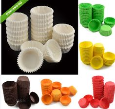 "NEW 600Pcs Muffin Cupcake Baking Cups Cases Paper Liners Cake Deco S Sz 6 Colors **************************************** 600 תבניות אפיה מנייר. מתאים לכל מאפה כגון קאפקייק, מאפינס ועוד. לבחירה מתוך 6 צבעים.      מידות: קוטר 3.8 ס""מ   מחיר: כ 22 ש""ח כולל משלוח חינם.    מוצר פופולארי"