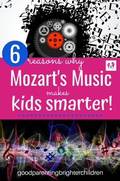 Here are 6 reasons why Mozart's music makes kids smarter. But, what KIND of smart? Taking music lessons and listening to Mozart will help make you smarter, but find out the underlying reasons why. Music Activities For Kids, Music For Kids, Listening Activities, Learning Tips, Kids Learning, Music Education, Childhood Education, Science Education, Physical Education