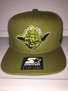fdcbcf673afc7 Star Wars Yoda head all green starter black label snapback