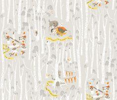 snow_white_gray fabric by heatherross on Spoonflower - custom fabric