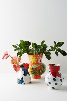 Bold Blooms Vase, Anthropologie