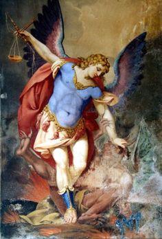 Saint Michael the Archangel Angels Among Us, Angels And Demons, Catholic Art, Religious Art, Angel San Rafael, Kunst Online, I Believe In Angels, Angel Guidance, Mont Saint Michel